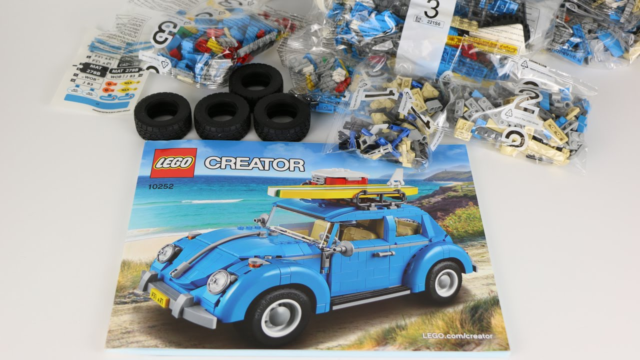 lego creator volkswagen beetle unboxing 10252 youtube. Black Bedroom Furniture Sets. Home Design Ideas