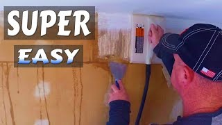 Remove Old Wallpaper from Drywall Super Easy With Steamer