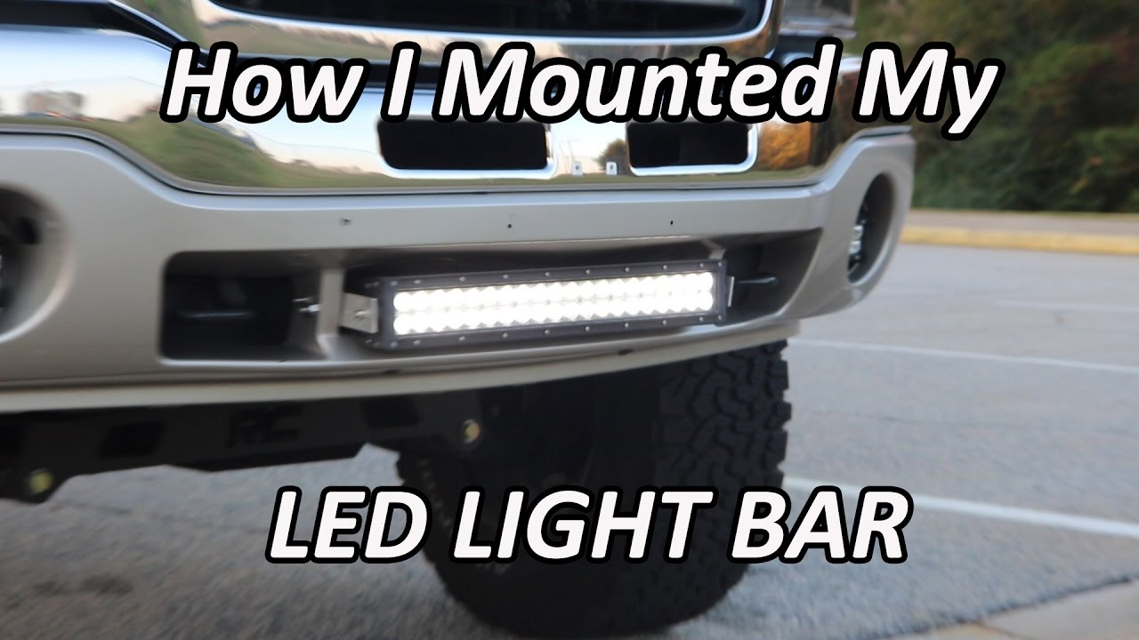 How i mounted the 22 led lightbar on my gmc sierra youtube how i mounted the 22 led lightbar on my gmc sierra mozeypictures Images
