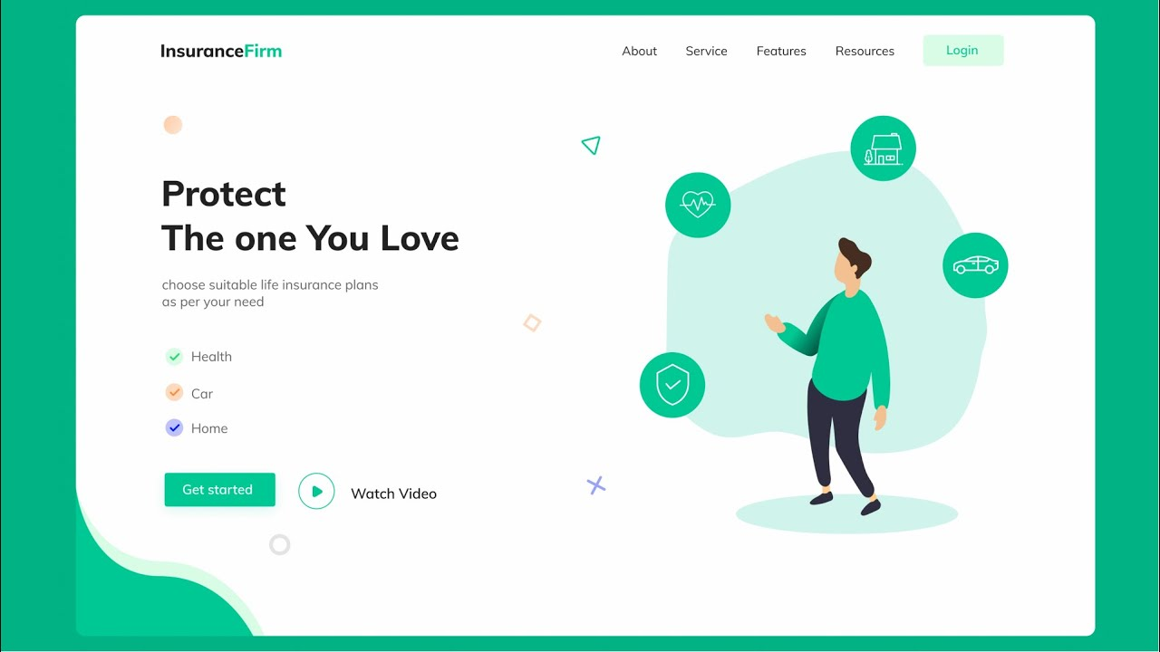 Responsive Landing page Using HTML, CSS & JavaScript