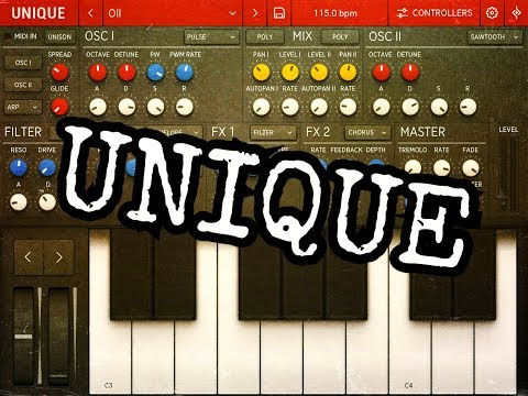 UNIQUE Synthesizer by Sugar Bytes ON SALE Quick Play Demo for the iPad