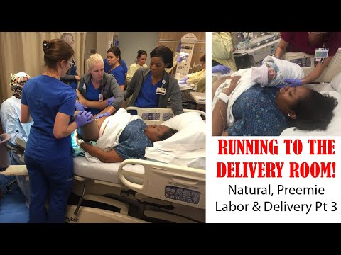 RUNNING TO THE DELIVERY ROOM! | Natural Birth Labor and Delivery Story Pt 3