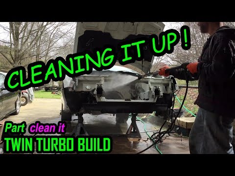 cleaning up undercarriage and engine bay |1999 chevrolet Camaro Y87 Twin Turbo Build