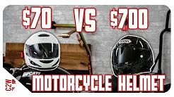 $70 vs $700 Motorcycle Helmet | Is it worth the price?