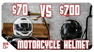 $70 vs $700 Motorcycle Helmet   Is it worth the price?
