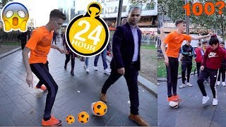 CAN I NUTMEG 100 PEOPLE IN 1 DAY !? (24 hour FOOTBALL CHALLENGE vs SV2)