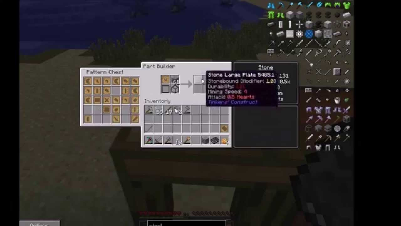 Minecraft tinkers construct hammer recipes
