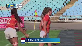 Netherlands - Ukraine | 2018 Rugby Europe Women's 7 Trophy Series | Game of 1th Place