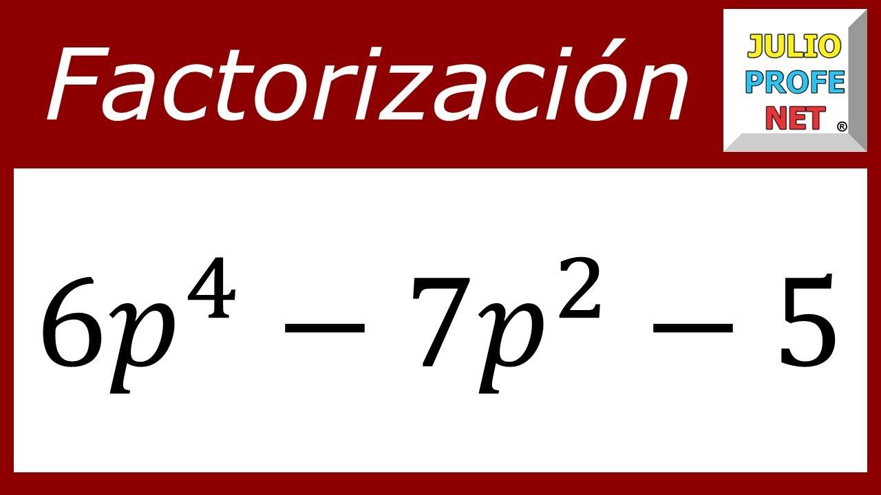 FACTORIZACIÓN DE TRINOMIOS DE LA FORMA ax²+bx+c - Ejercicio 5