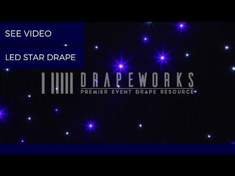 LED STAR DRAPE ( BLUE & WHITE LED ) ( VIDEO )