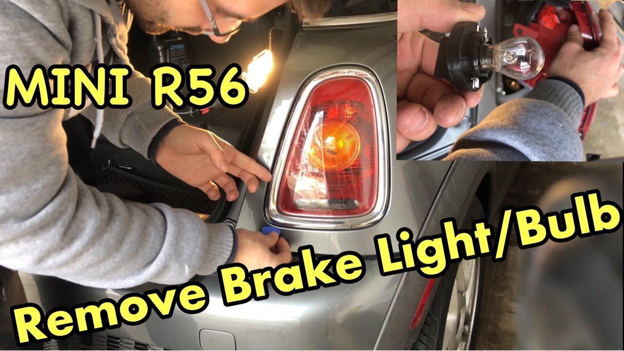 Diy How To Remove Change Brake Tail Light Bulb On R56 Mini Cooper S Youtube