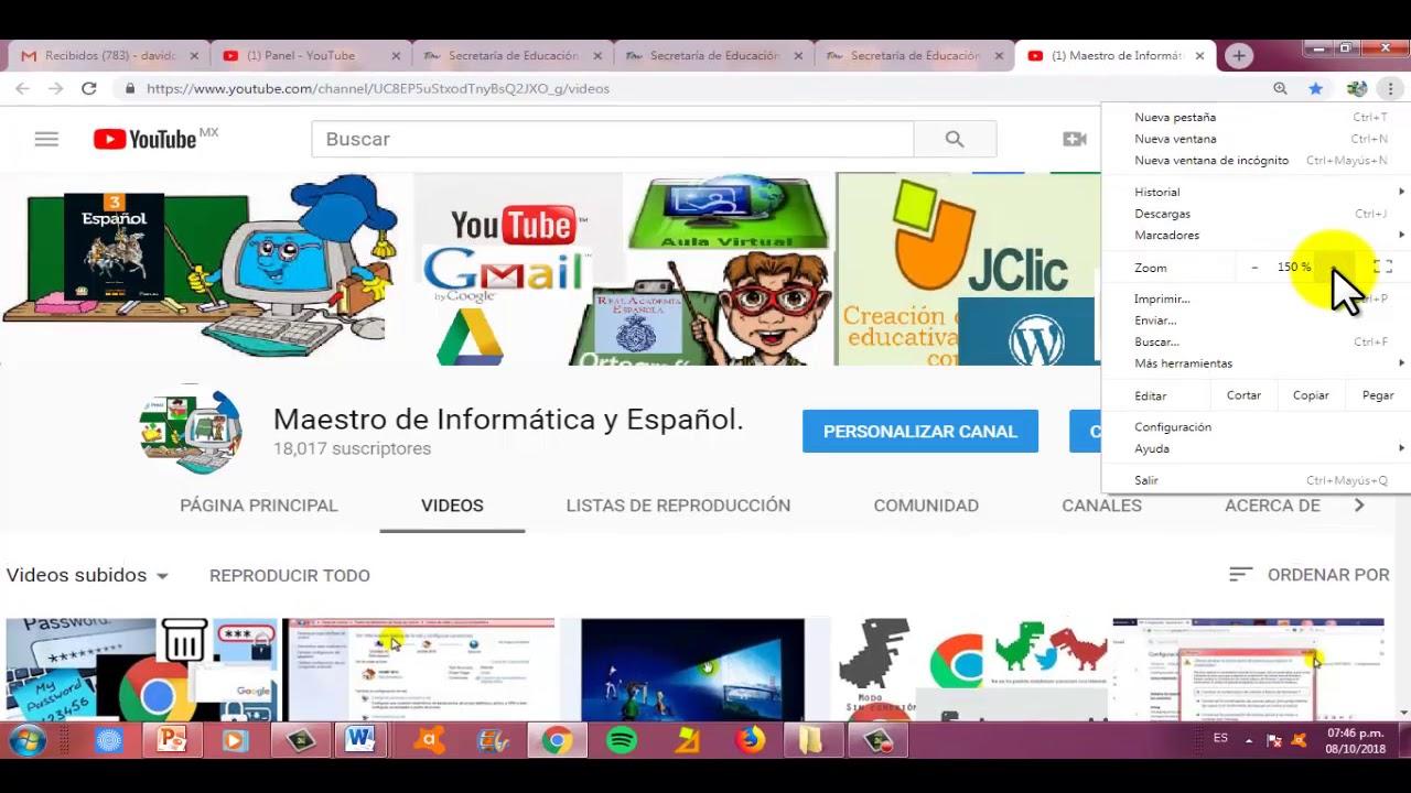 Como Agrandar Zoom En Chrome Y Poner Pantalla Completa Youtube