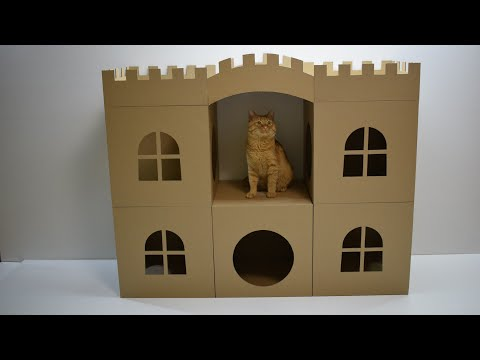 How to make Amazing Cat Pet House from cardboard
