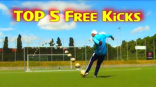 Faiz subri insane knuckleball free kick top 5 free kicks amazing goal  goal of the week