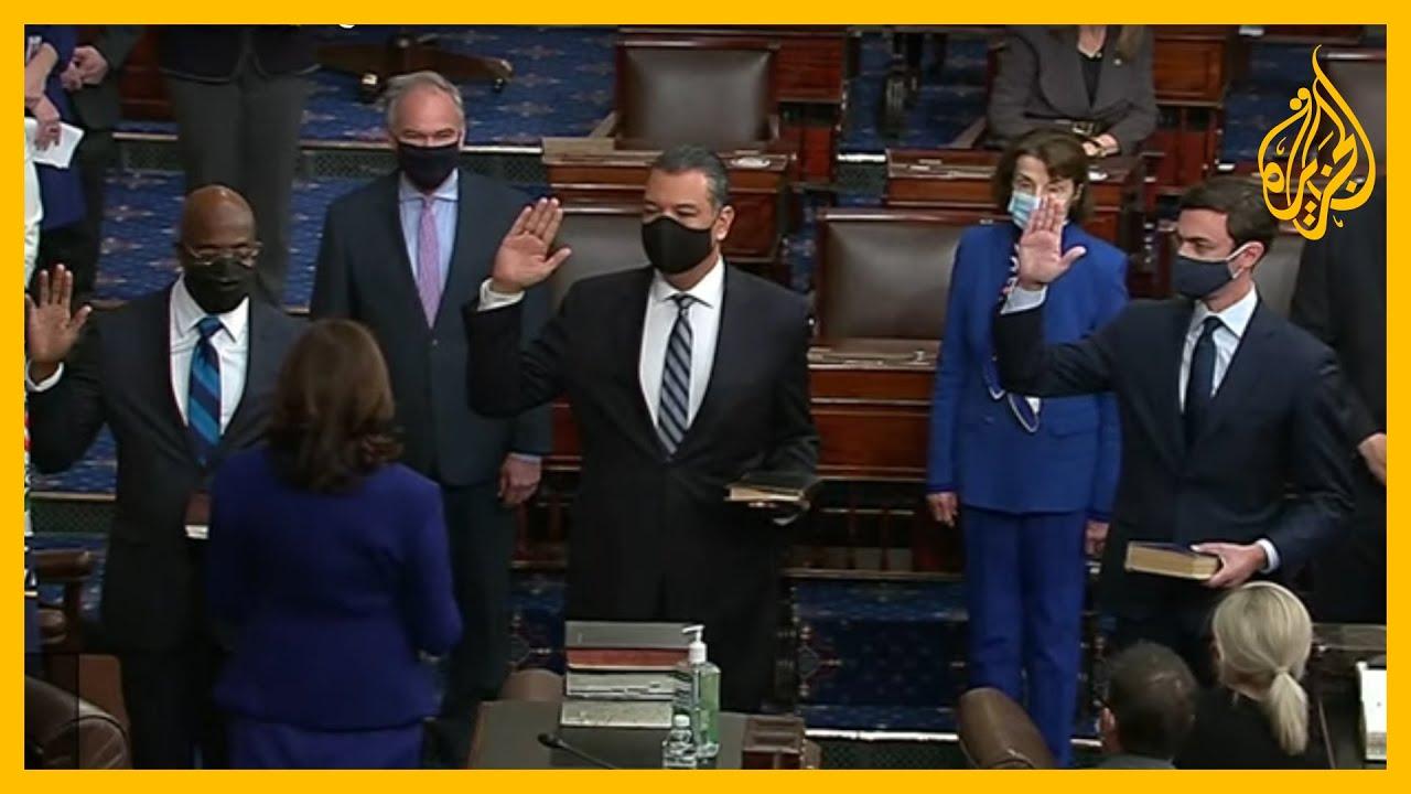 كامالا هاريس ترأس جلسة لمجلس الشيوخ أدى خلالها 3 مشرعين ديمقراطيين القسم الدستوري  - نشر قبل 4 ساعة