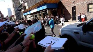 Rafael Nadal signing autographs at Letterman
