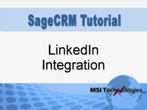 Sage CRM LinkedIn Integration