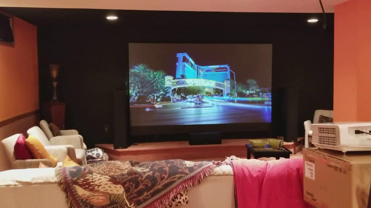Optoma UHD60 Projector + Nano Tech Dark Gray screen technology By Precise  360