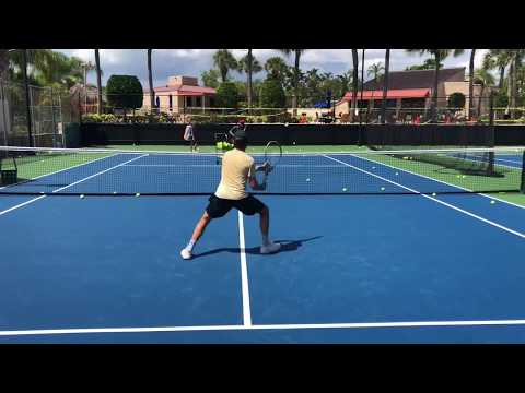 Advanced Tennis Volley Drills 🚨 Professional tennis training with coach Brian Dabul