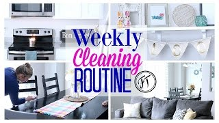 SIMPLE HABITS FOR A CLEAN HOME| MY WEEKLY CLEANING ROUTINE