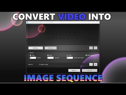 How To Convert Video Into Image Sequence Using Free Video To JPG Converter