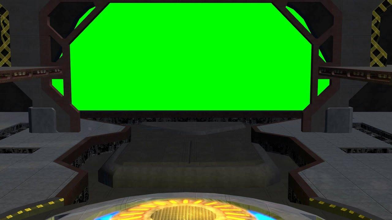 Spaceship Hangar Video Background Set With Sound B