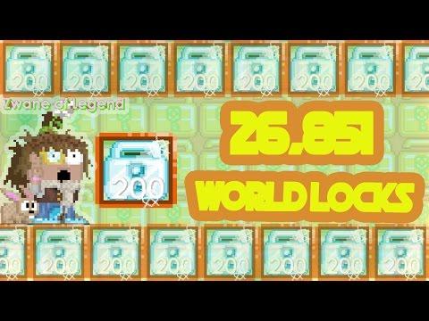 Quick 26,851 World Locks   Growtopia