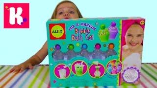 Гель для душа набор для изготовления распаковка mix and make up bubble bath gel unboxing set toy