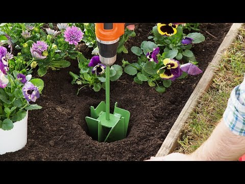 Don't Dig Holes In The Garden—drill Them.