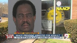 Cops: NAACP prez tried to push woman down stairs