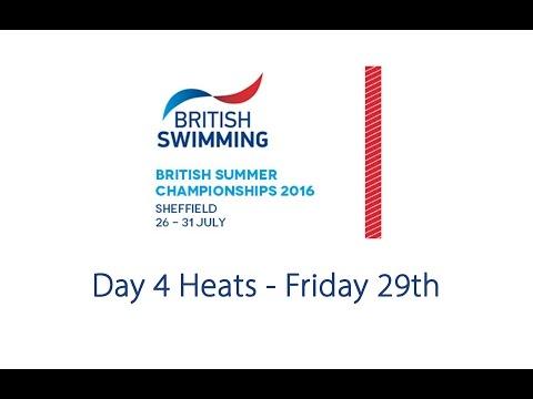 Day 4 Heats - British Summer Championships 2016