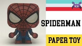 How to Make a Spiderman Paper Toy ( Papercraft ) (free template) by Gus Santome