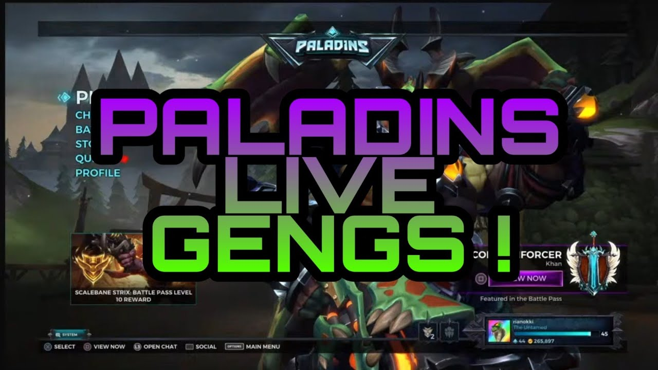 Paladins Game Overwatch Gratisan Live Streaming Youtube