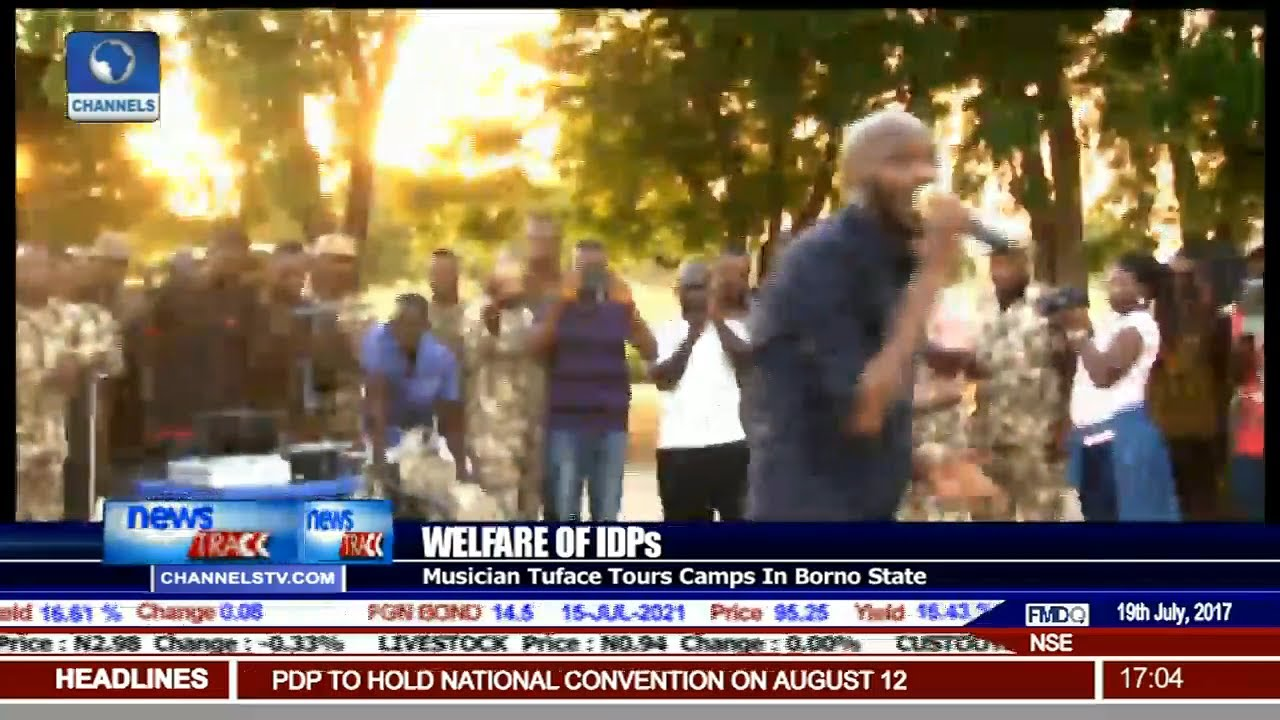 Musician Tuface Tours IDP Camps In Borno State