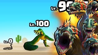 How To Grow a BABY SNAKE to MAX LEVEL DRAGON HYDRA in Evolution Run #3