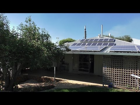 Off Grid House. A typical day living with solar power
