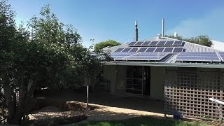 Off Grid House. A tipical day living with solar power