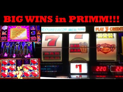 WINNING lots of $$$ on the most random Slot Machine in Primm Nevada!