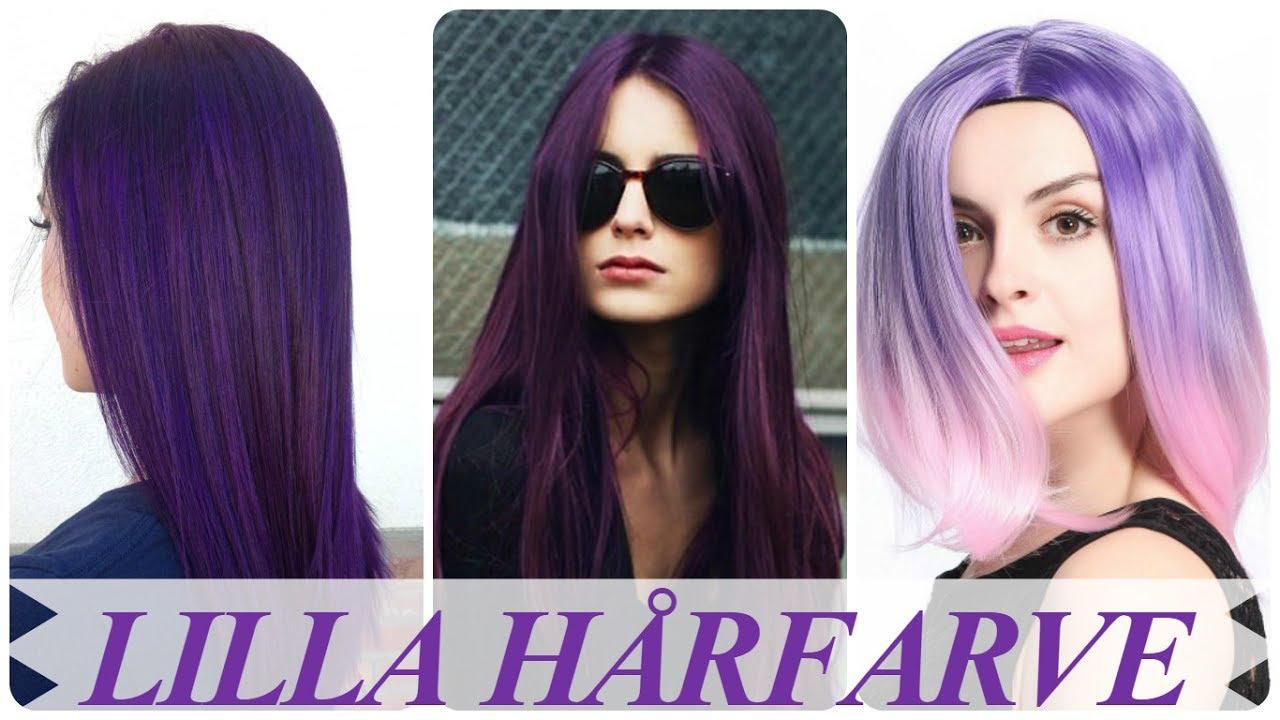 lilla hårfarve