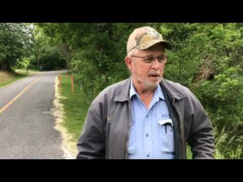 Ralph Blume explains where pipeline will cross his property