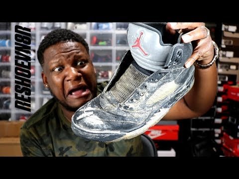 CAN THESE METALLIC JORDAN 5'S BE BROUGHT BACK TO LIFE???