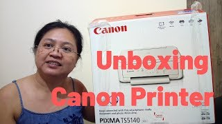 CANON Printer Pixma TS5140 Series Setup - Unboxing