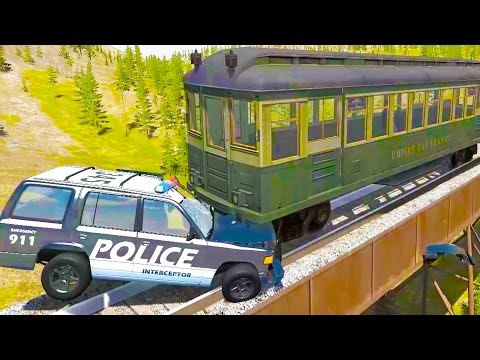 High Speed Train Crashes! - BeamNG Drive Subway Train Crash Test Compilation Gameplay