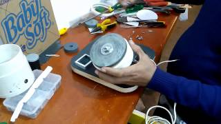 Esmeril feito com motor de liquidificador