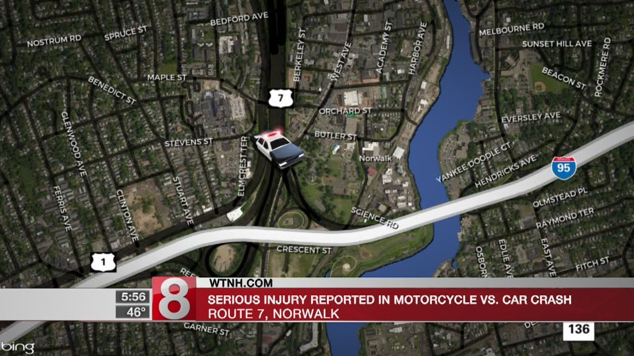 Serious crash closes portion of Route 7 Southbound in Norwalk