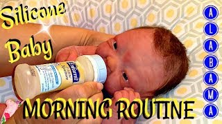 My Silicone Baby's Full Morning Routine with a TIP- The Land of 1O,OOO Pacifiers