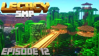 How to Make a Treehouse in Minecraft Survival: LegacySMP - How To Build a Jungle Base (2020)
