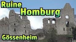 Burgen, Schlösser & Ruinen: Ruine Homburg bei Gössenheim #166