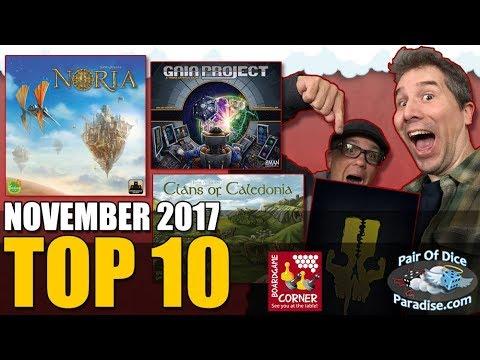Top 10 most popular board games: November 2017