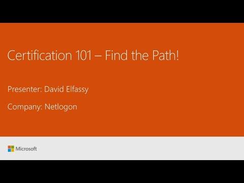 Microsoft Certification 101 (Repeat) - BRK1034R